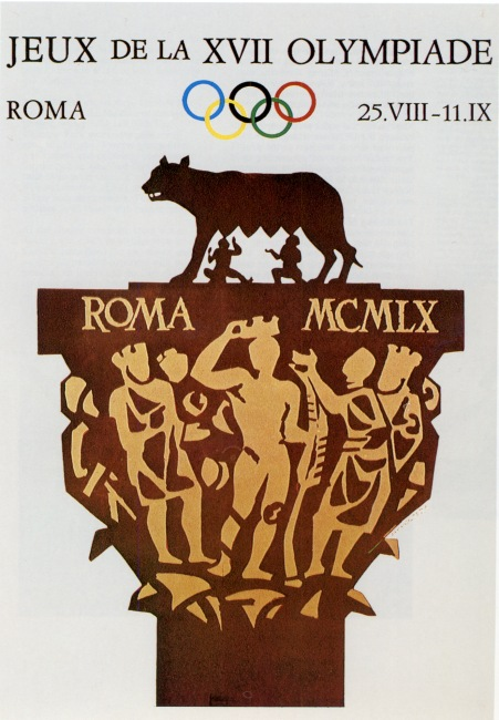 1960 olympic games poster