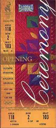 1996 olympic games ticket